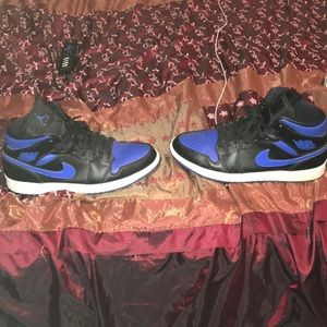 Jordan Shoes - Air Jordan 1's blue black & white